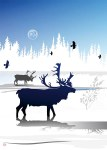 Caribou Winter Card