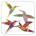 Four Hummingbirds Coasters