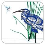 Coaster Set of 4 - Hummingbird and Heron
