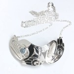 Sterling Silver Frog with Blue Topaz