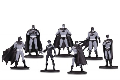BATMAN BLACK & WHITE MINI PVC FIGURE 7 PACK SET 1