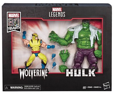 MARVEL LEGENDS 80TH ANN WOLVERINE/HULK 6IN SET