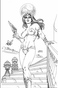 DEJAH THORIS (2019) #1 21 COPY LINSNER B&W VIRGIN FOC INCV