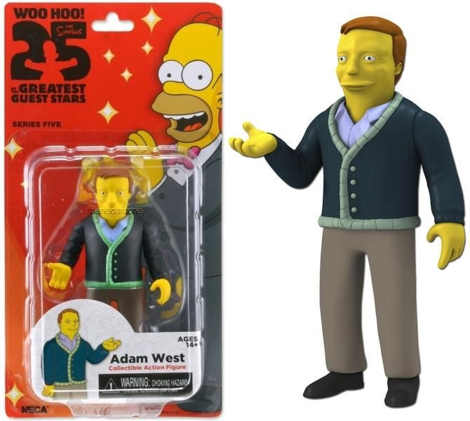 "Series 5 5/"" Figure Adam West NECA The Simpsons 25th Anniversary"
