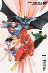 JUSTICE LEAGUE #47 CARD STOCK MIKEL JANIN VAR ED
