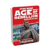 STAR WARS RPG AGE OF REBELLION COMMANDER FIGUREHEAD