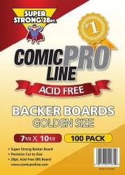 SUPPLIES COMIC PRO LINE GOLDENAGE SIZE BACKER BOARDS 28 PT