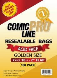 SUPPLIES COMIC PRO LINE GOLDENAGE SIZE RESEALABLE BAGS