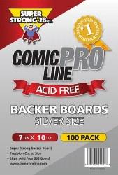 SUPPLIES COMIC PRO LINE SILVERAGE SIZE BACKER BOARDS 28 PT