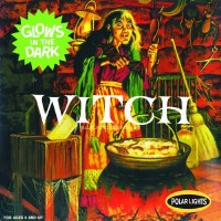 WITCH GLOW IN THE DARK MODEL KIT