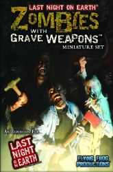 LAST NIGHT ON EARTH ZOMBIES WITH GRAVE WEAPONS MINIATURE SET