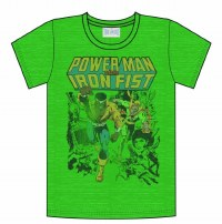 POWER MAN & IRON FIST KELLY HEATHER T/S -XL-