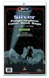 SUPPLIES: BCW SILVER AGE RESEALABLE COMIC BAGS 100 PACK