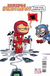 INVINCIBLE IRON MAN #6 YOUNG VAR
