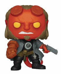 POP MOVIES HELLBOY W/ BPRD TEE VINYL FIG
