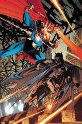 BATMAN SUPERMAN #7 CARD STOCK ANDY KUBERT VAR ED
