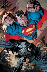 BATMAN SUPERMAN #8 CARD STOCK ANDY KUBERT VAR ED