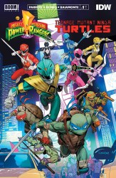 POWER RANGERS TEENAGE MUTANT NINJA TURTLES #1 MAIN 2ND PTG (
