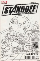 AVENGERS STANDOFF ALPHA #1 PARTY SKETCH VAR ASO