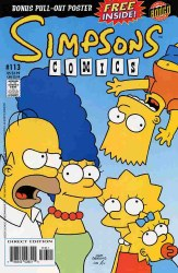 SIMPSONS COMICS #113 NM-LOOSE POSTER