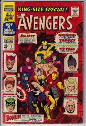 AVENGERS (1963) ANNUAL #01 VG+