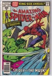 AMAZING SPIDER-MAN (1963) ANNUAL #12 GD+