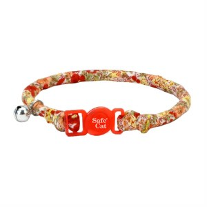 Safety Red Floral Round Collar