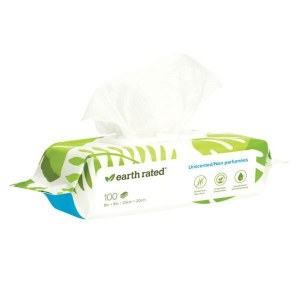 Earthrated Wipes Unscent 100ct