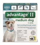 Advantage II Medium Dog 4 Pack