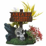 Area 51 Sign with Skull
