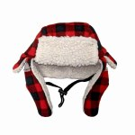 Buffalo Plaid Winter Hat Md Lg