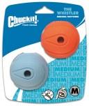 Chuckit Whistler Ball Md 2pk