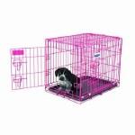 """Pup Retreat 24"""" 2 Door Pink"""