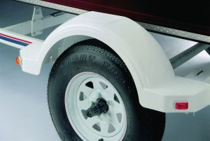 """Plastic Fender for 12"""" tire - White with Top Step"""