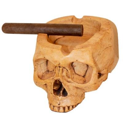 Skull Ashtray Neo Antiqued