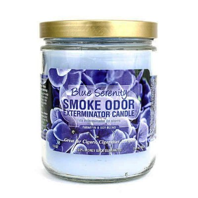 Smoke Exterm Candle Blue Seren