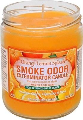 Smoke Exterm Candle Orange