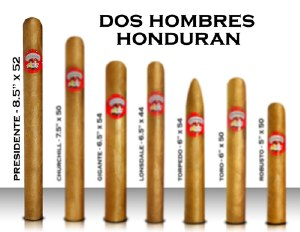 Dos Hombre Hon 8 1/2 X 52 S