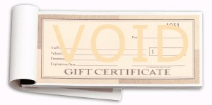 Gift Certificates 25