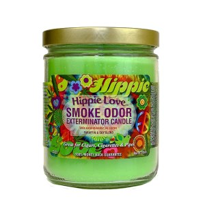 Smoke Exterm Candle Hippie Lov