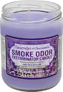 Smoke Exterm Candle Lavender