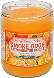 Smoke Exterm Candle Orange