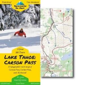 CarsonPass Backcountry Ski Map