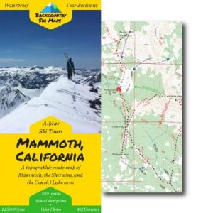Mammoth Backcountry Ski Map