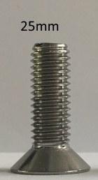 8mm x 25mm Flat Socket Screw