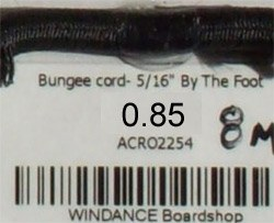 """Bungee cord- 5/16"""" [8mm]"""