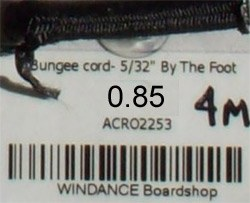 """Bungee cord- 5/32"""" [4mm]"""