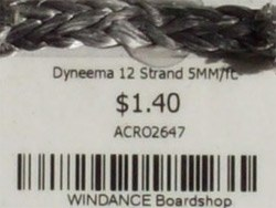 Dyneema 12 Strand 5MM/ft.