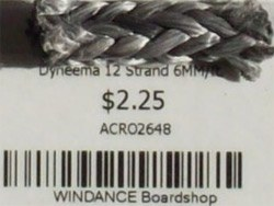 Dyneema 12 Strand 6MM/ft.