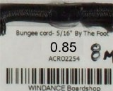 "Bungee cord- 5/16"" [8mm]"